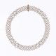 Red Gold Diamond Net Collar Necklace