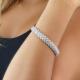 18 Kt White Gold Diamond-Pavé Chain Bracelet