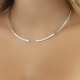 Adjustable White Gold Open Collar Necklace