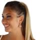 Cabochon Cut Quartz And Adularia Stone Earrings