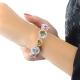 Multi-Gemstone Bracelet with a Diamond Halo
