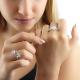 White Gold Diamond Flower Ring