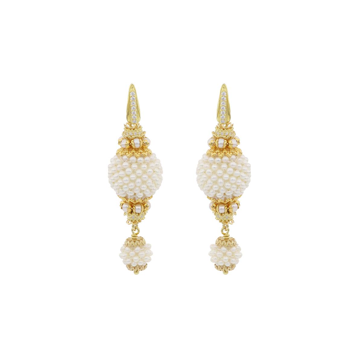 Pearl Baroque Spheres Earrings