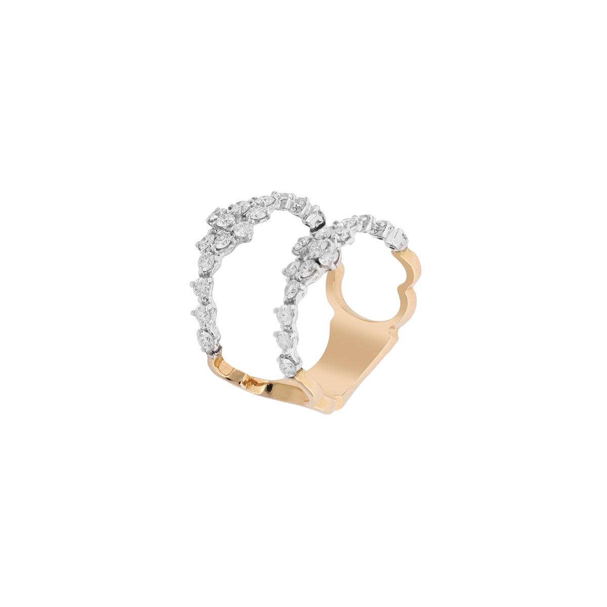 Double Shank Diamond Ring