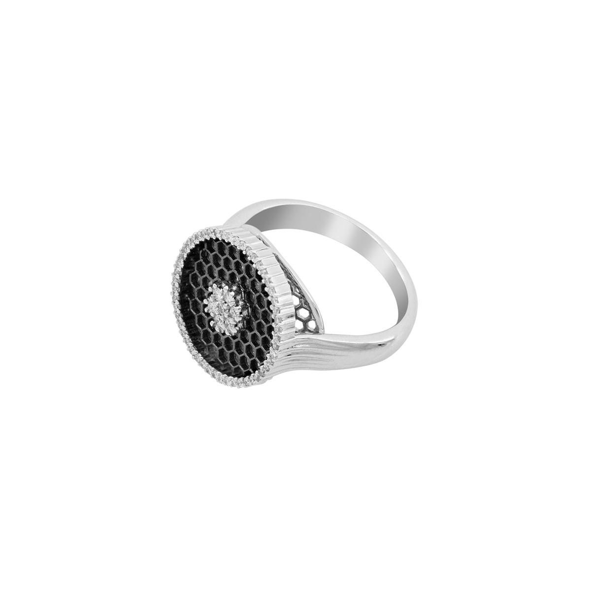 Honeycomb Diamond Ring