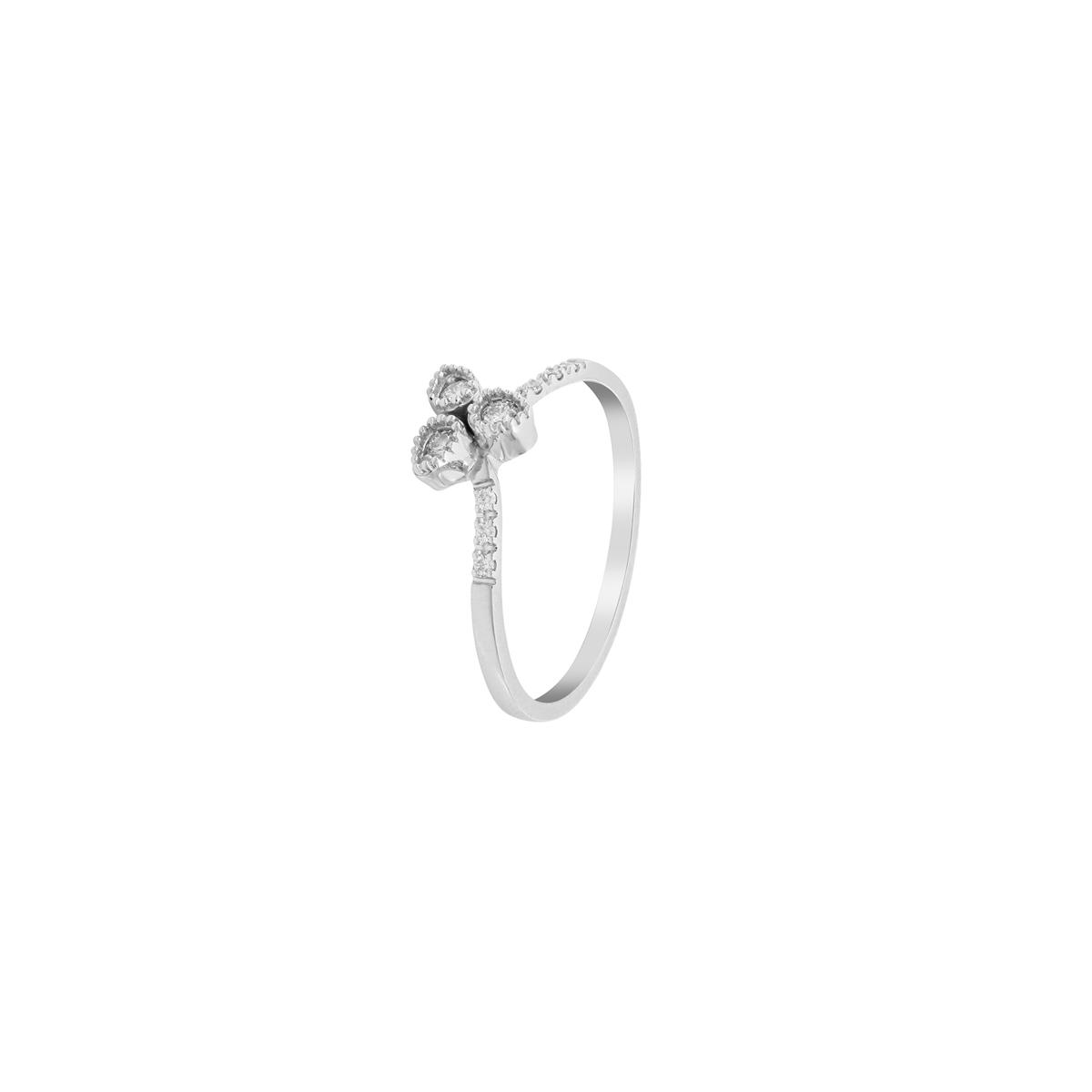 White Gold Trinity Ring