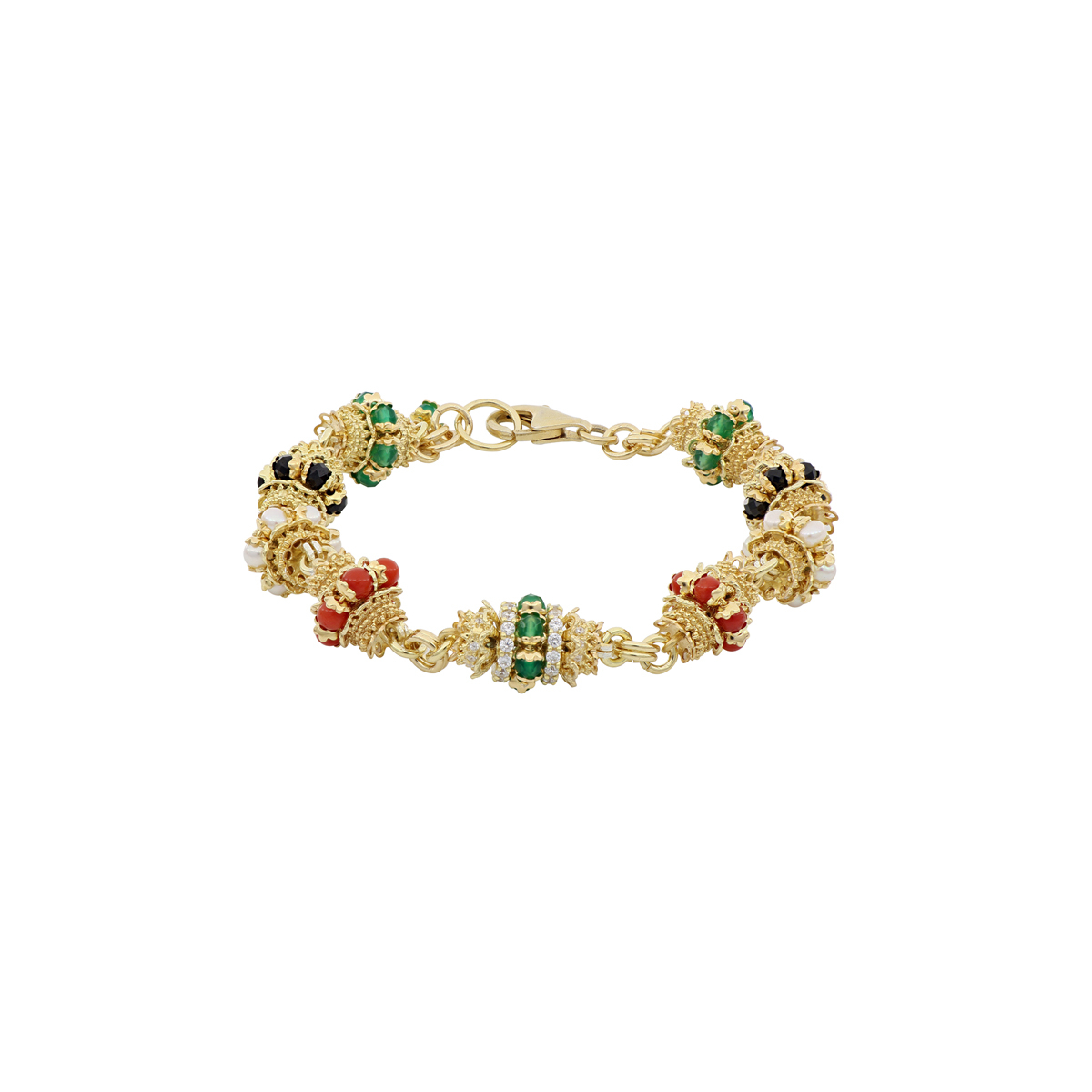 Multi-Gem Grapples Bracelet