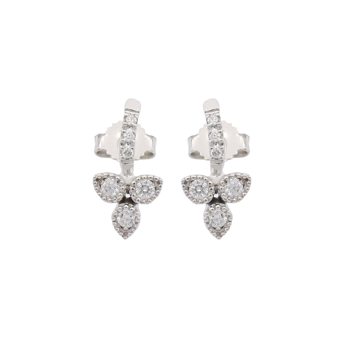 White Gold Trinity Earrings