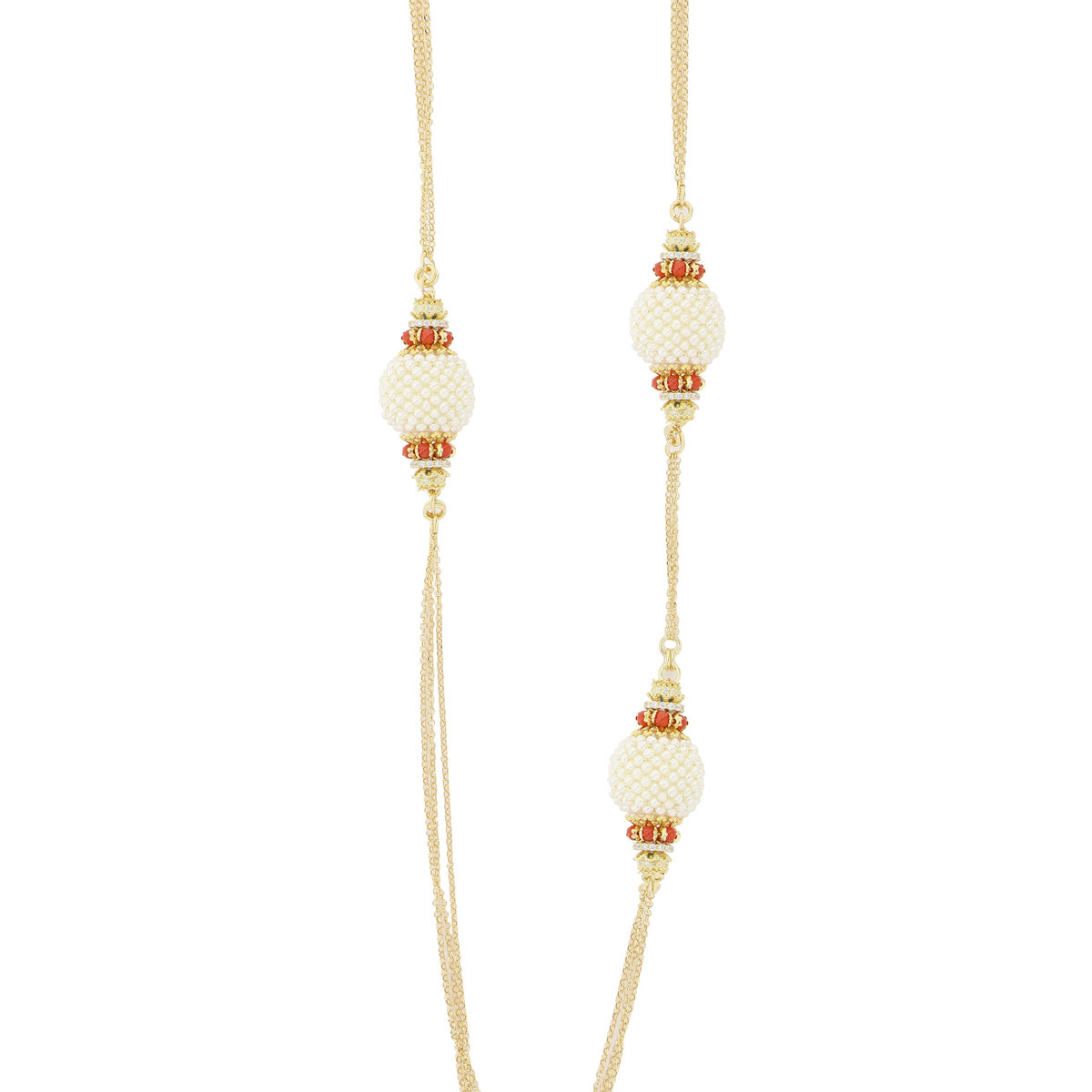 Coral And Pearls Baroque Necklace
