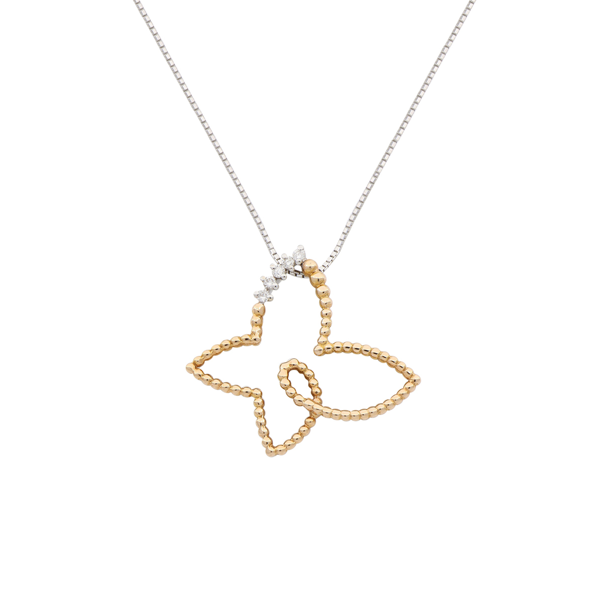 Dotted Butterfly Pendant Necklace