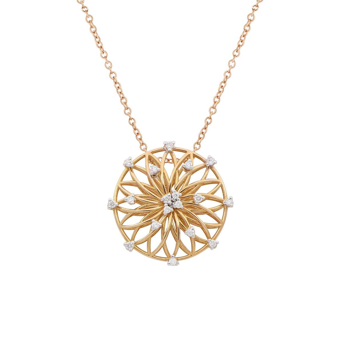 Filigree Disc Necklace
