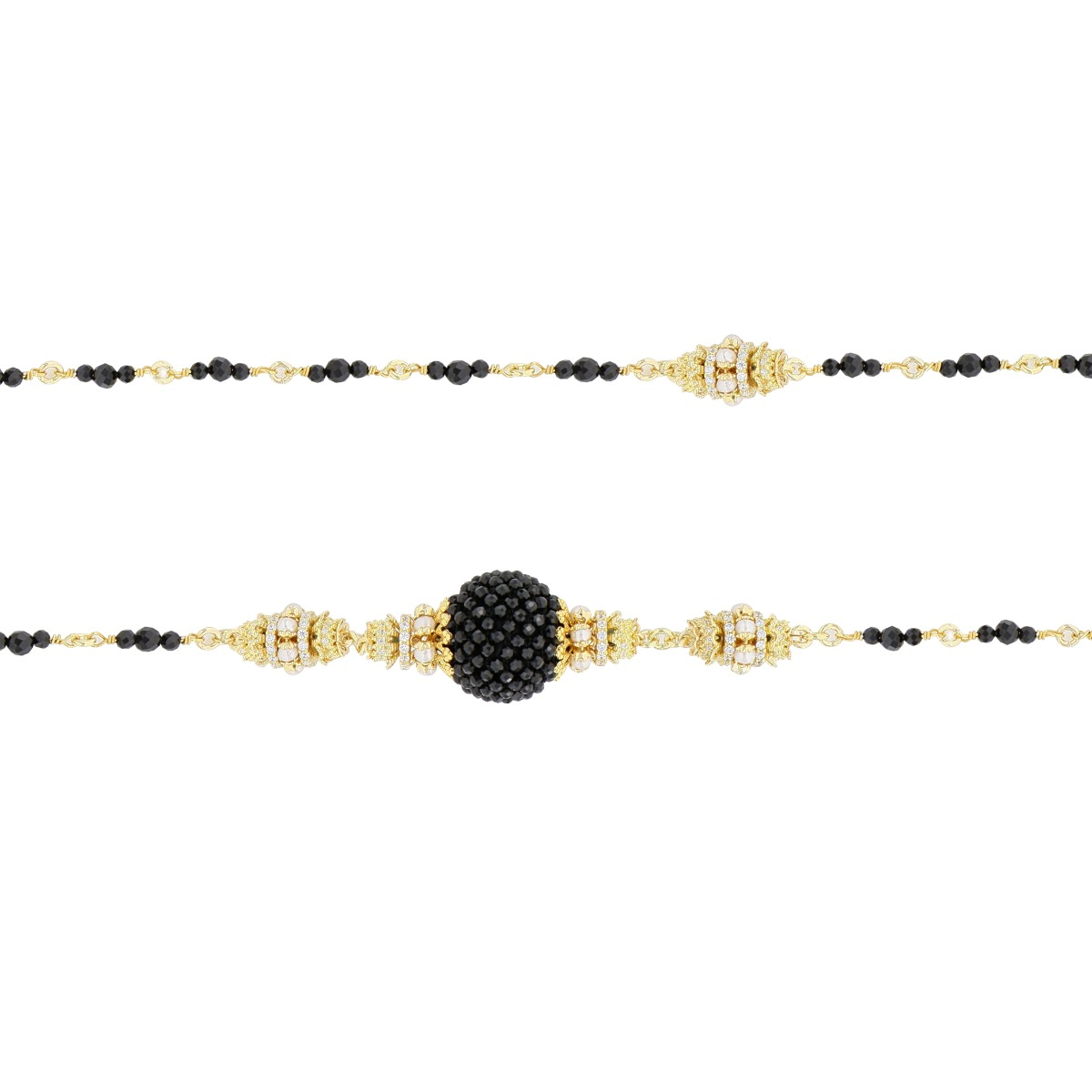 Spinels And Pearls Baroque Necklace