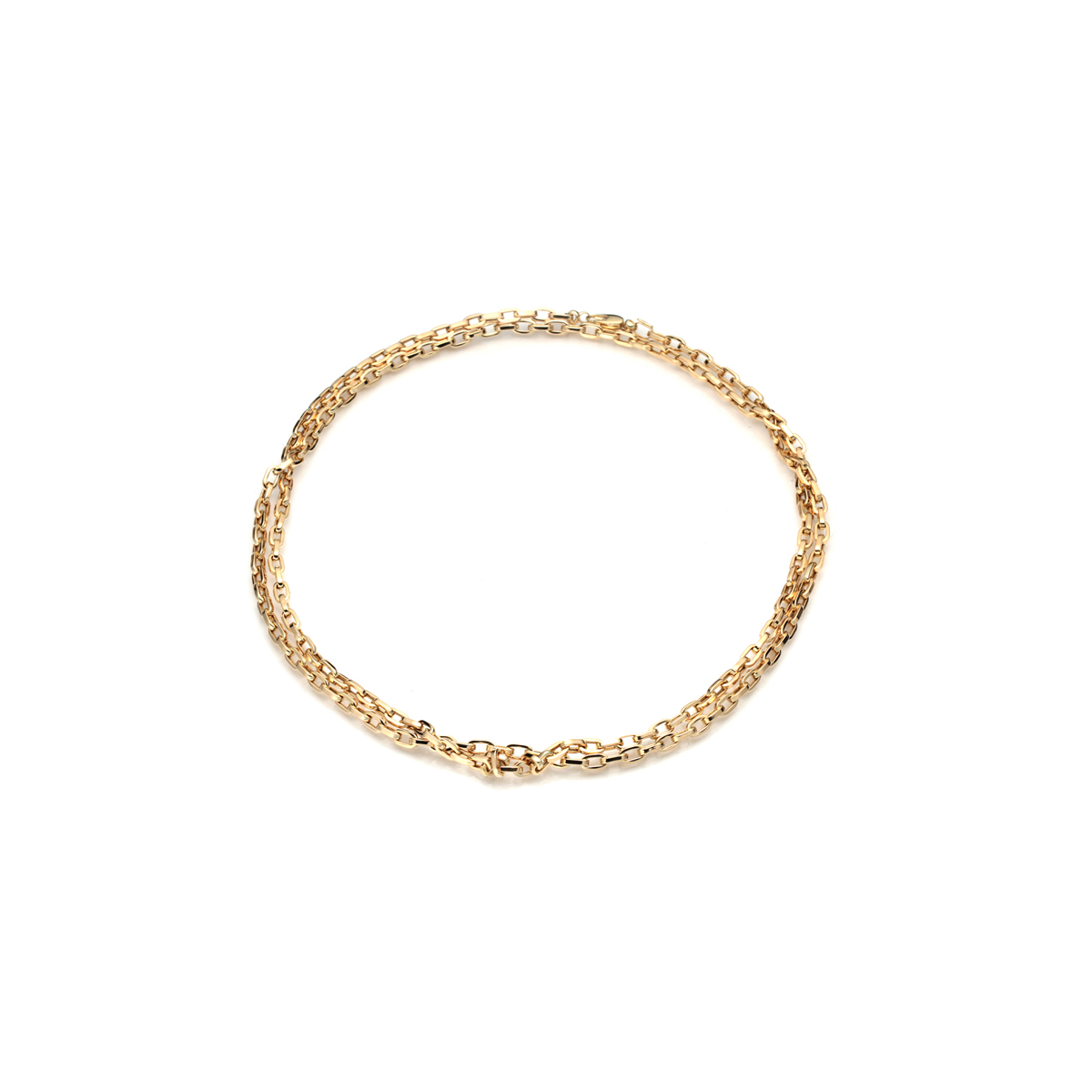 18kt Yellow Gold Double Chain Necklace