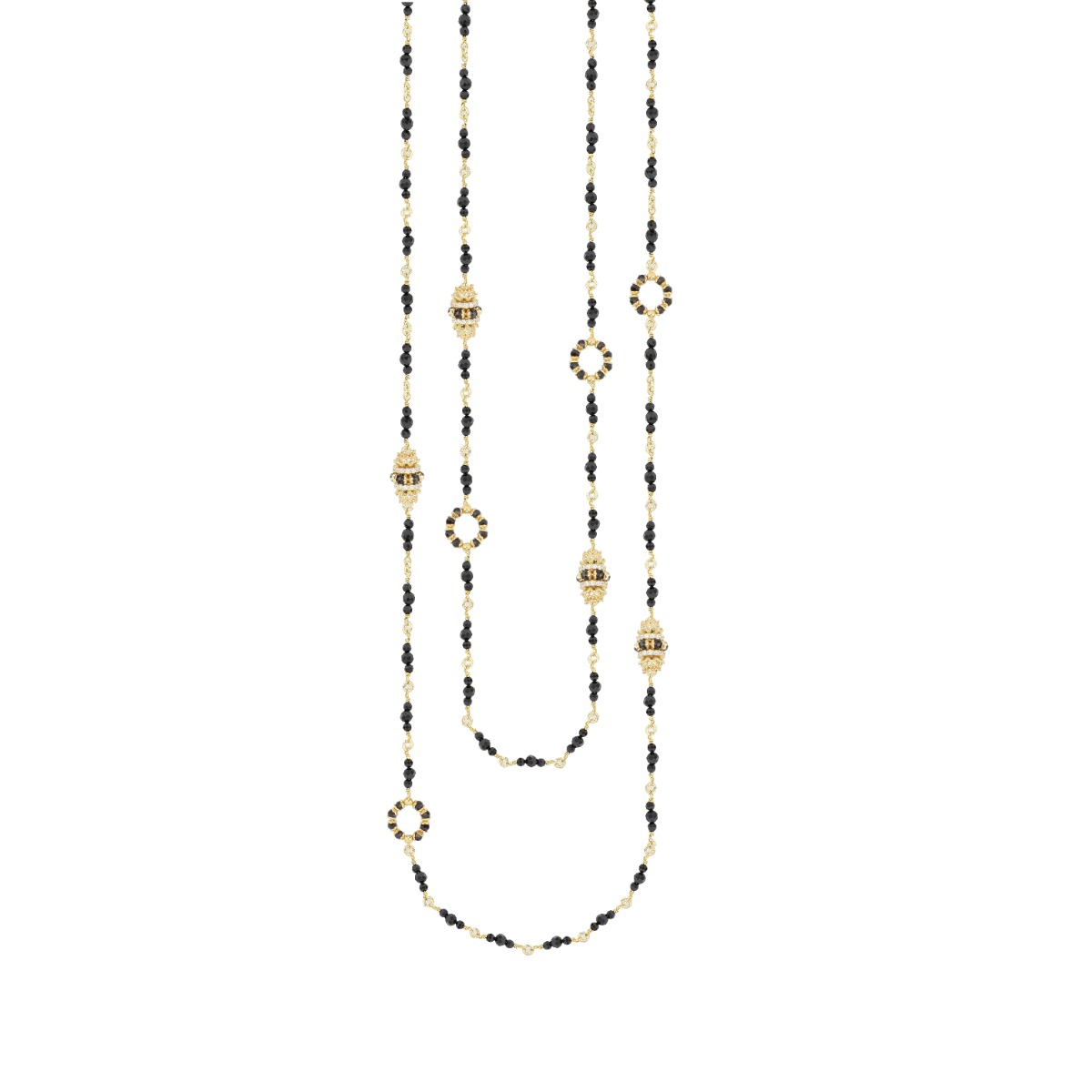 Double Line Spinels Chanel Necklace