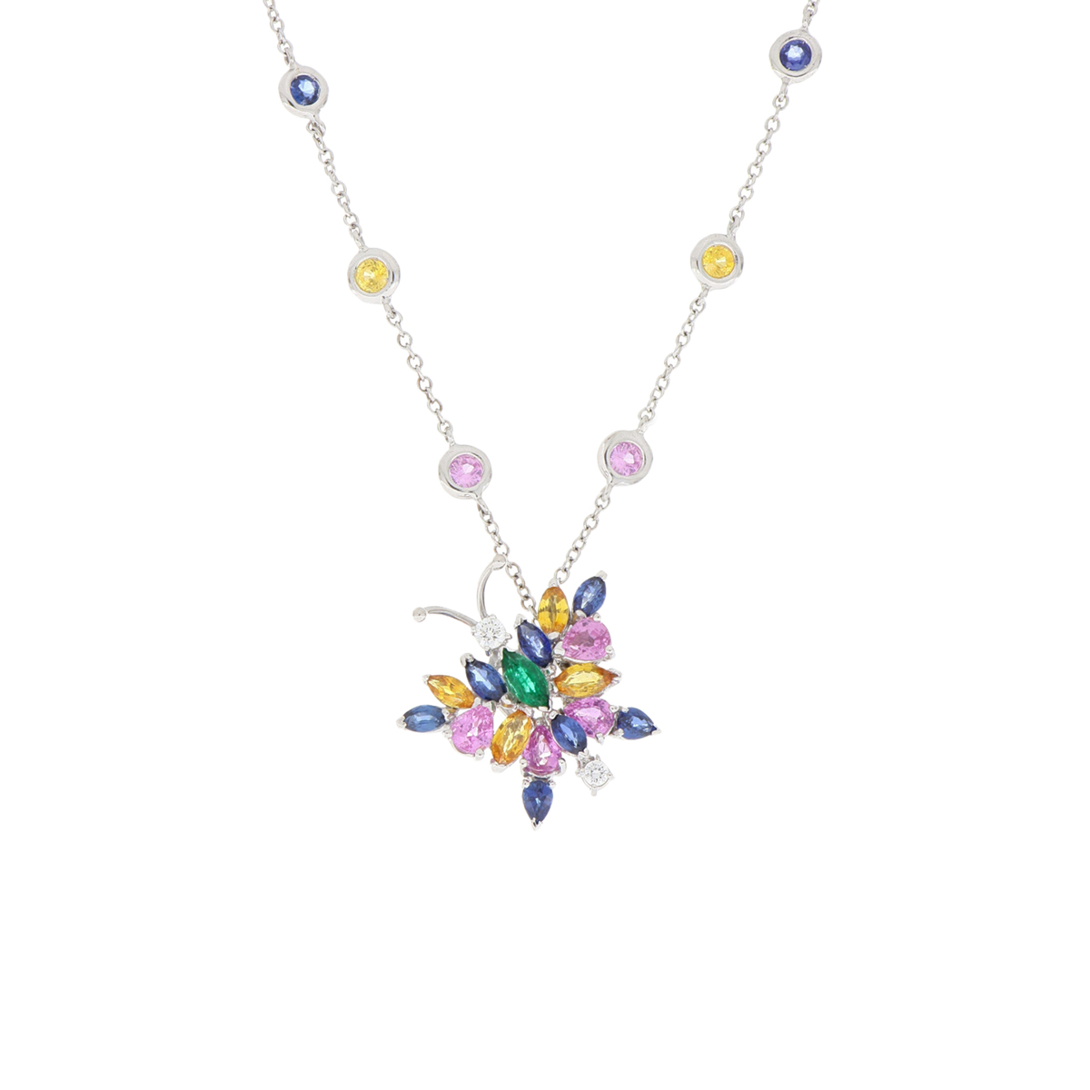Sapphire and Diamond Starfish Stud Earrings