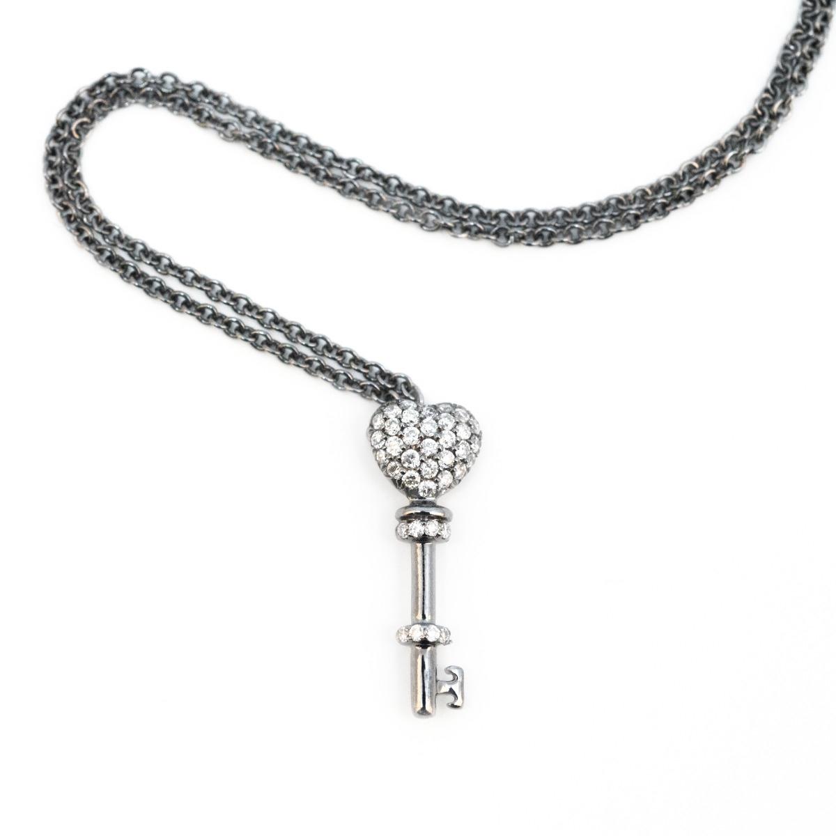Diamond Key Pendant Necklace