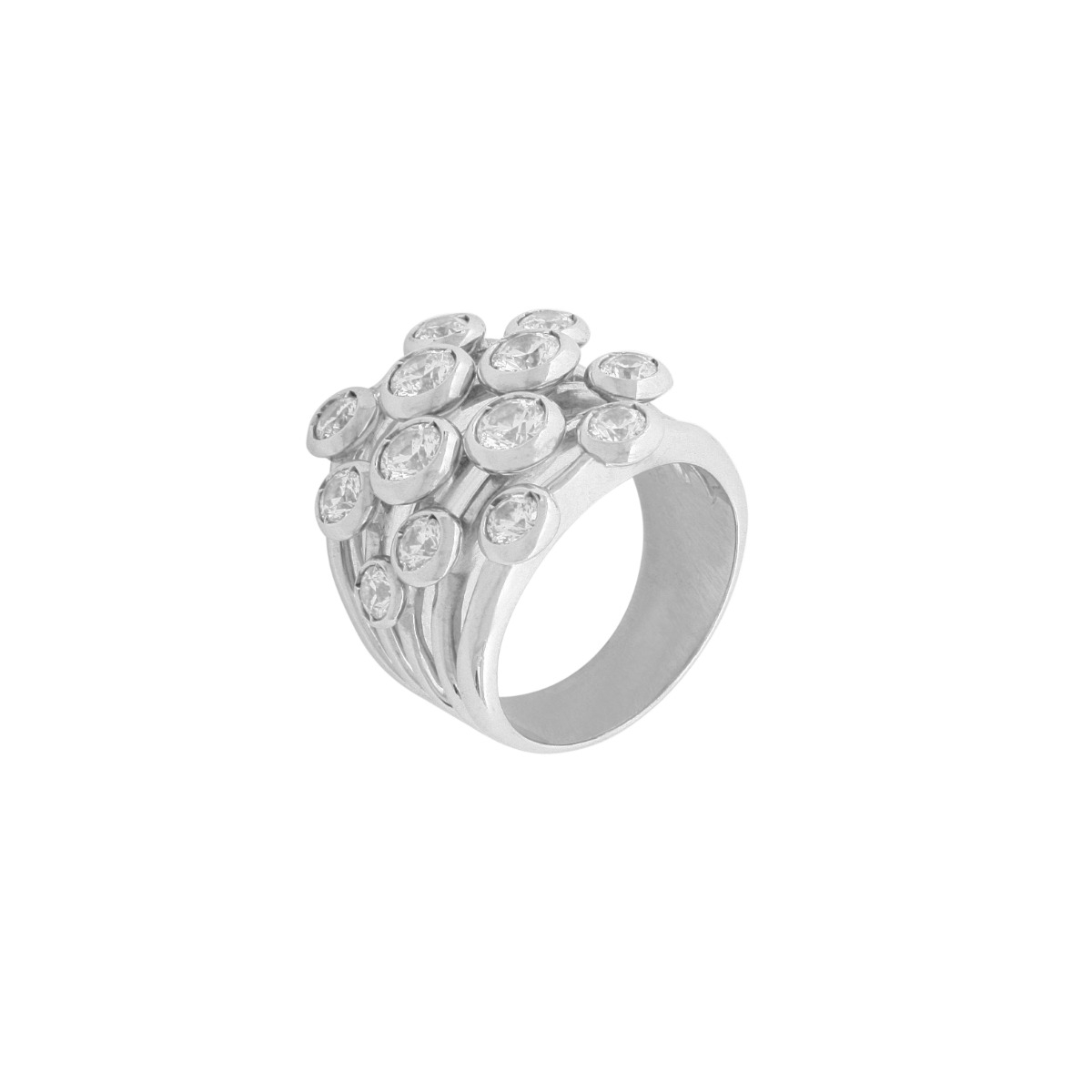 Infinity Collection - Right Hand Diamond Fashion Ring in Platinum