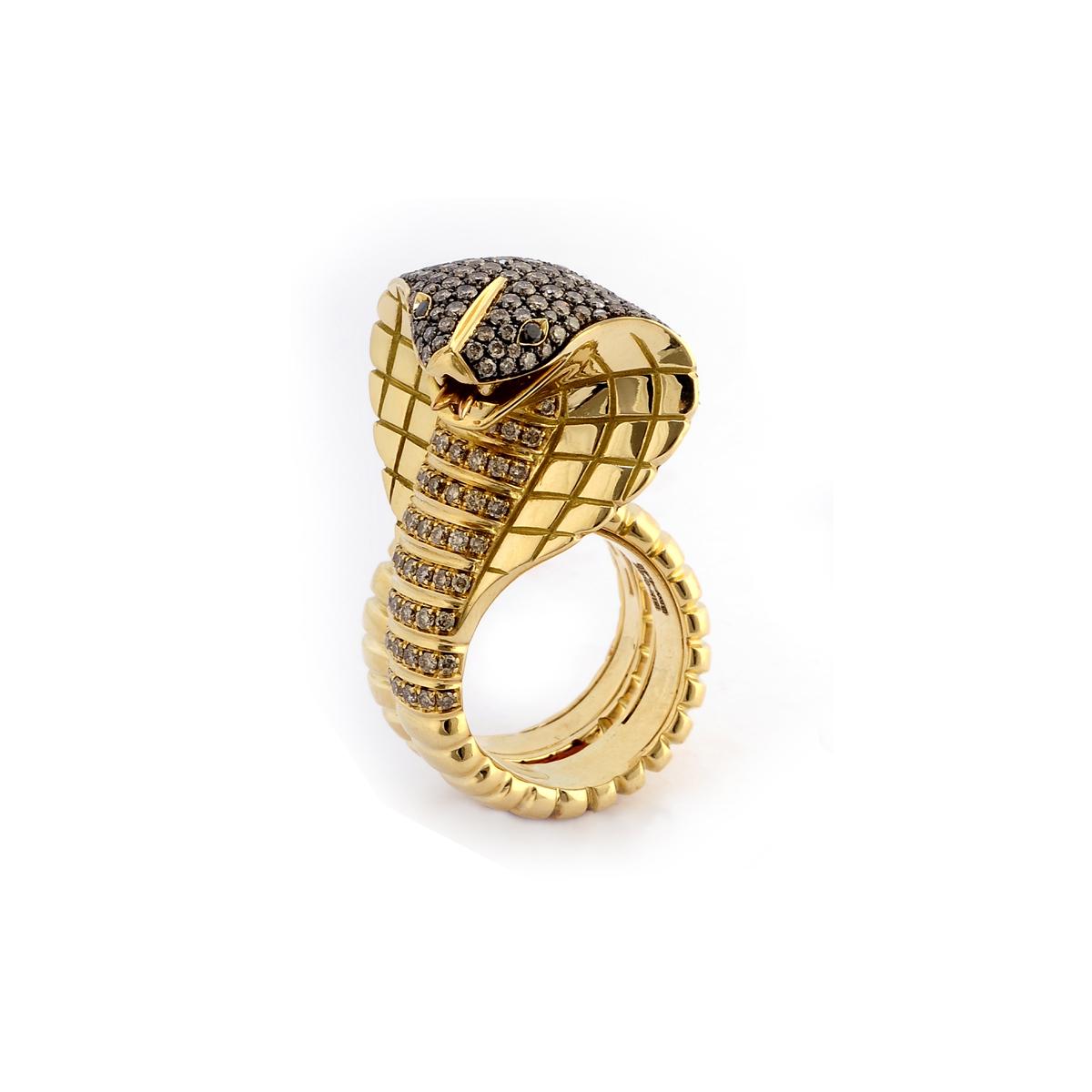 Chocolate Diamond Cobra Ring