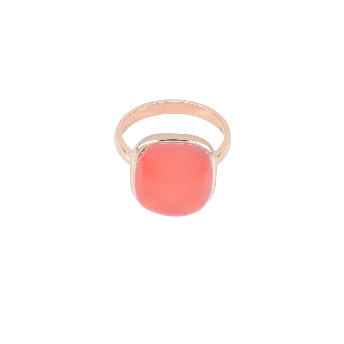 Cabochon Cut Quartz And Carnelian Ring