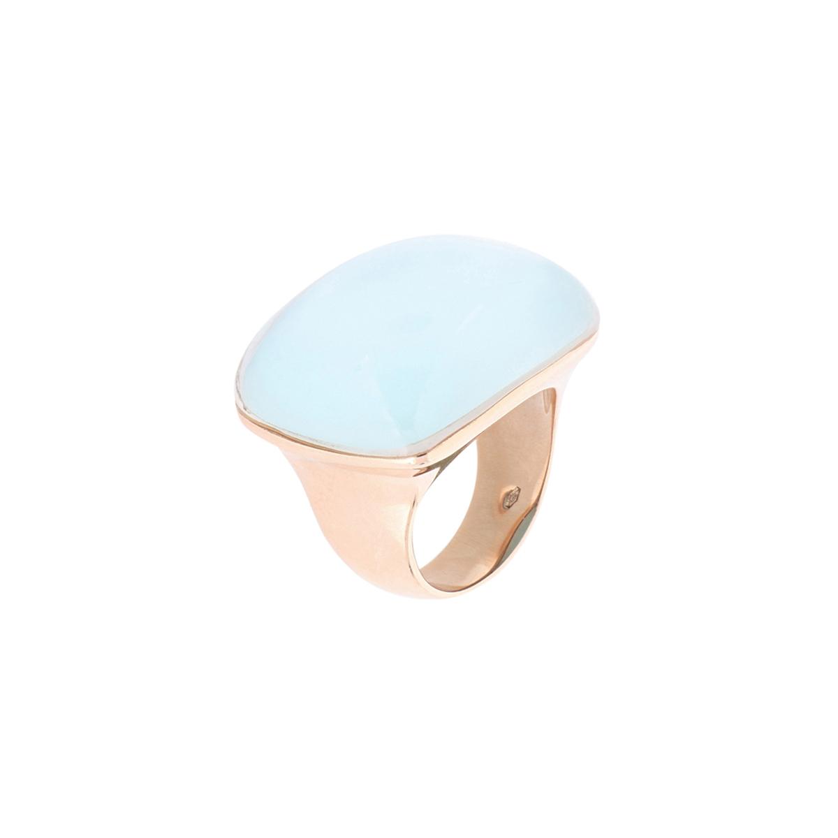 Cabochon Cut Turquoise Quartz Ring