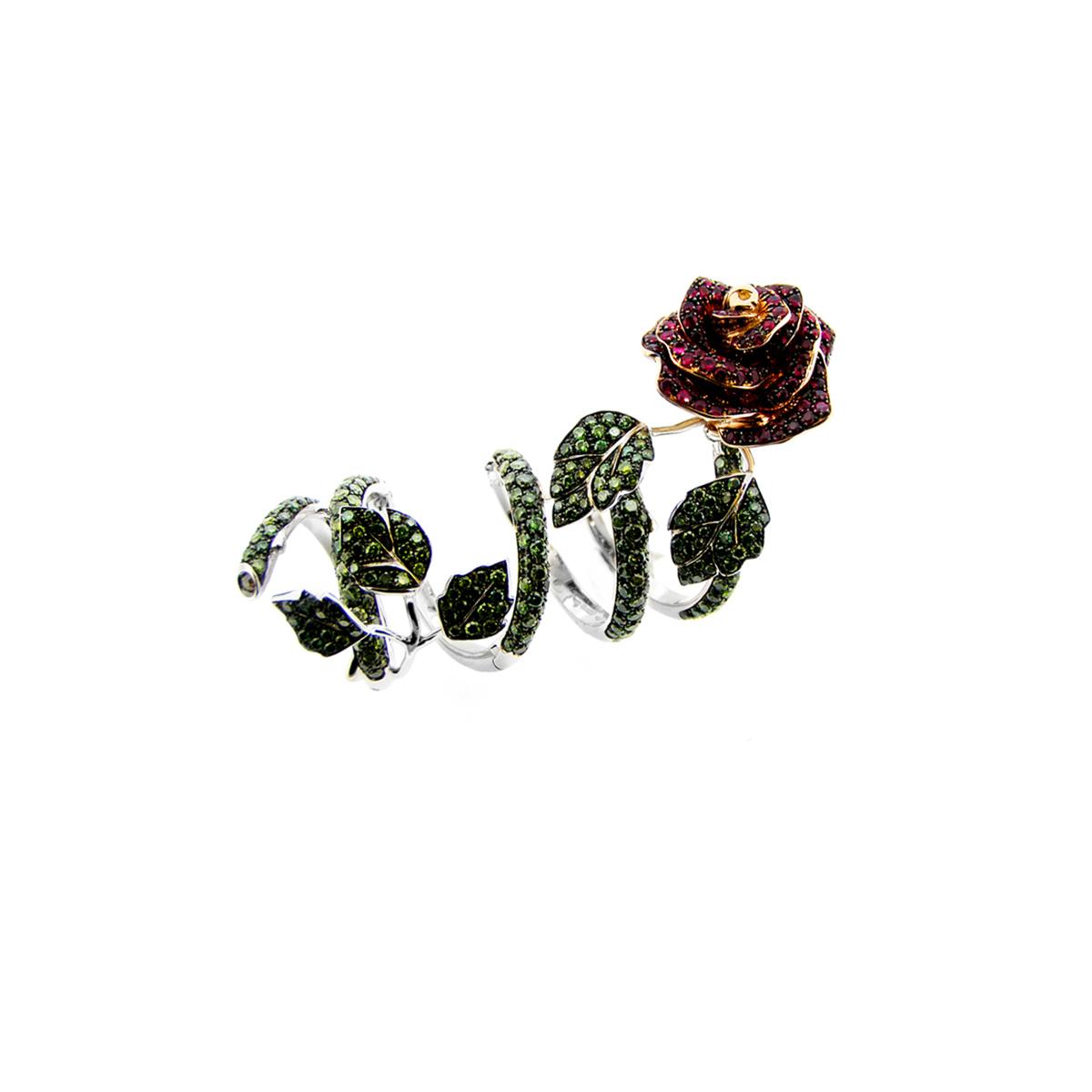 White Gold Spiral Rose Ring