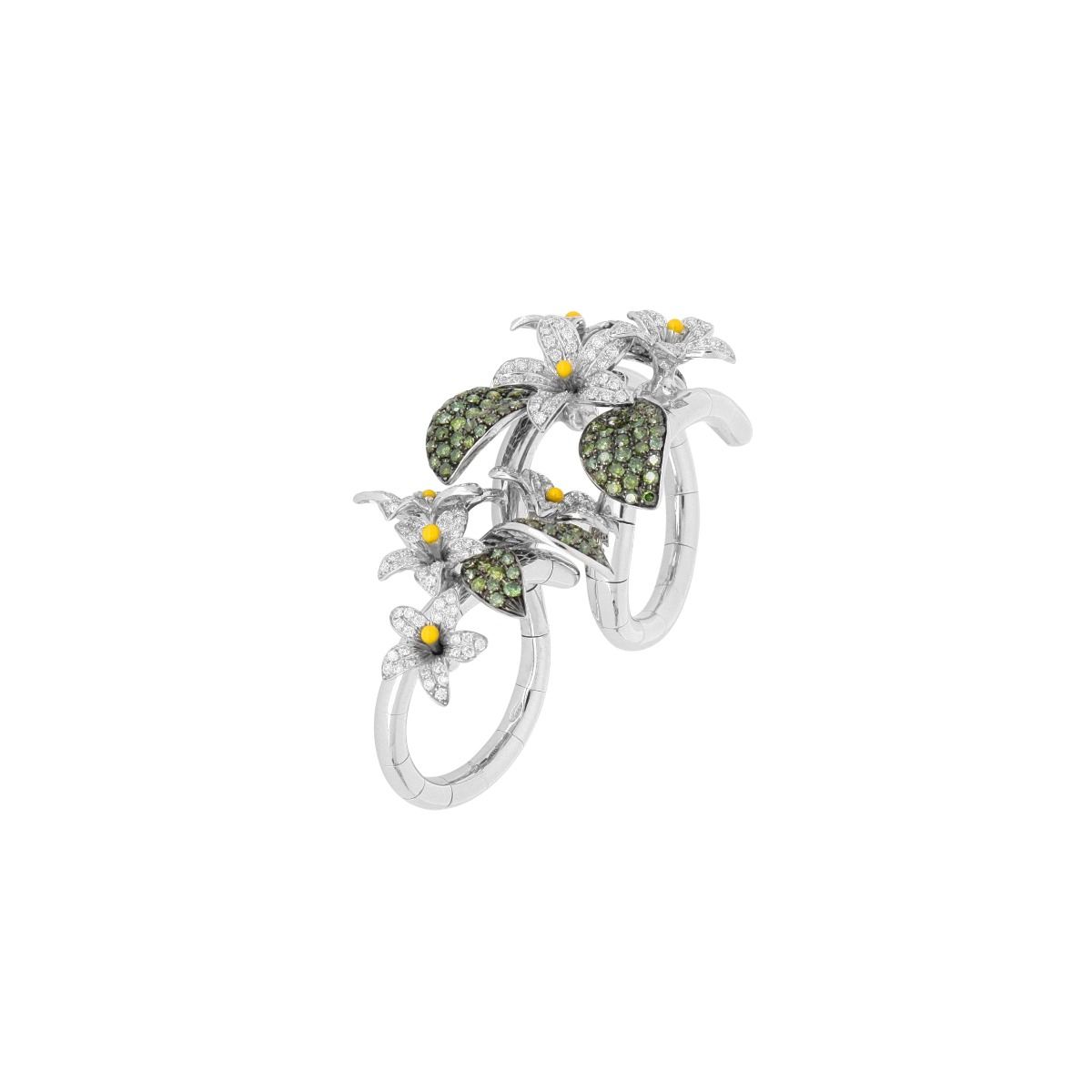 Arabian Star Flower Spiral Ring