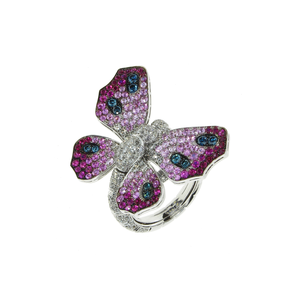 Double-Sided Butterfly Ring