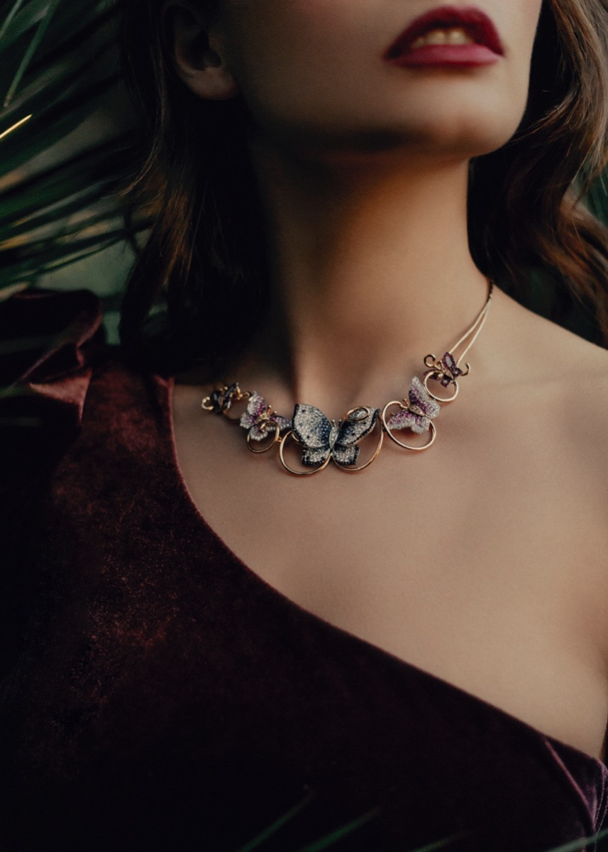 Five Butterfly Necklace