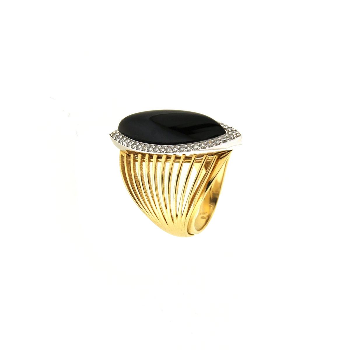 Cat-Eye Multi-Band Ring