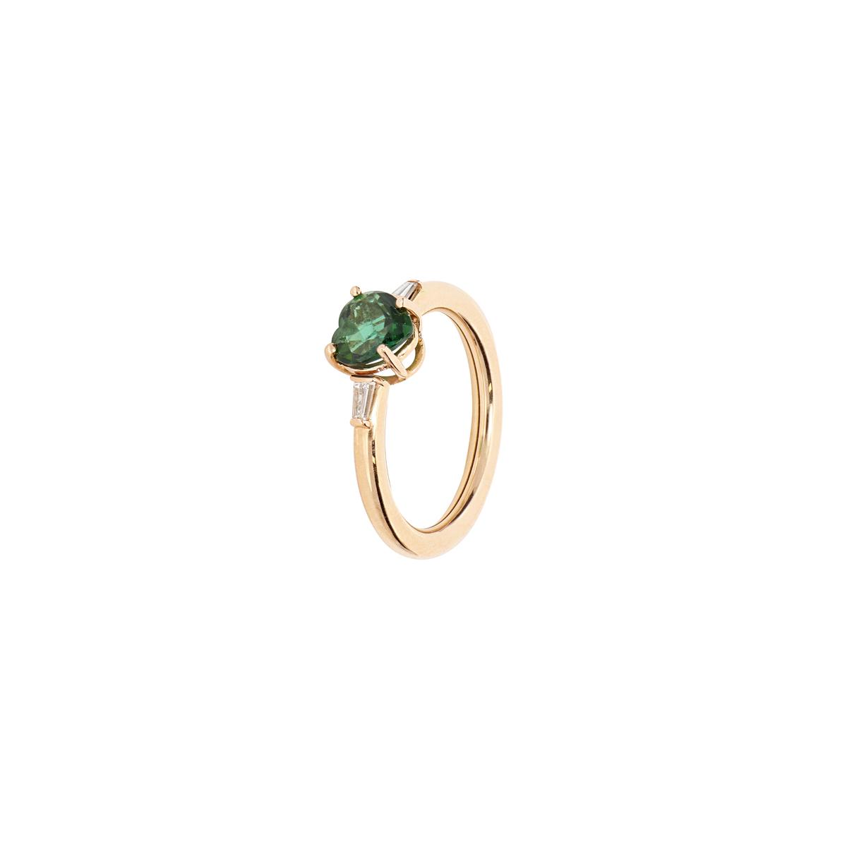 Tourmaline Heart Ring
