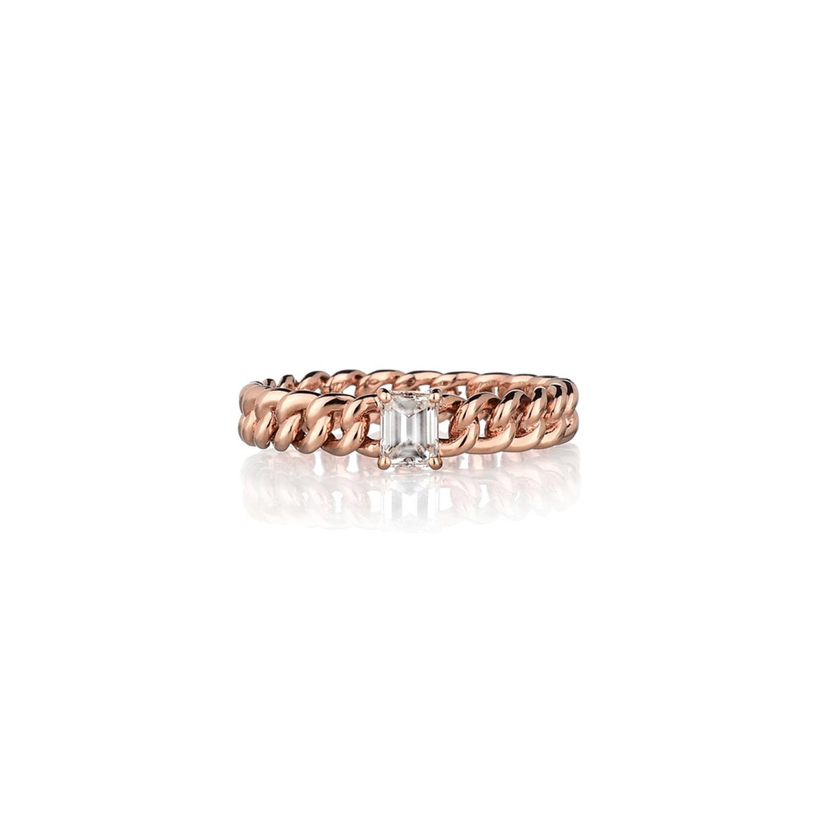 Minigroumette - Fancy emerald Ring
