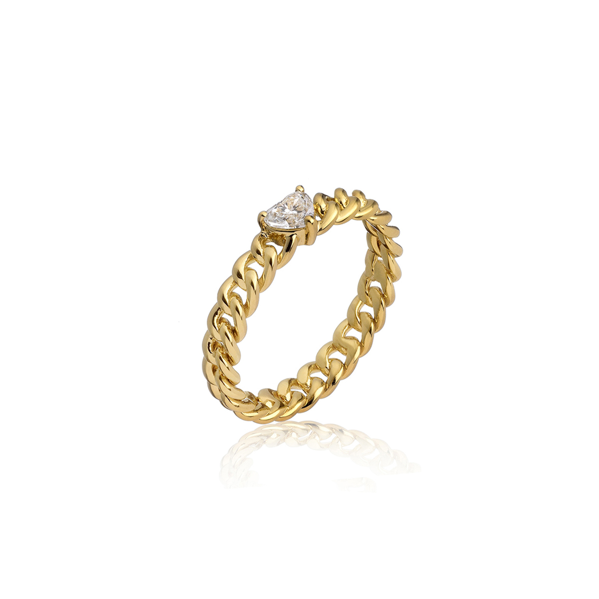 Minigroumette - Fancy heart Ring