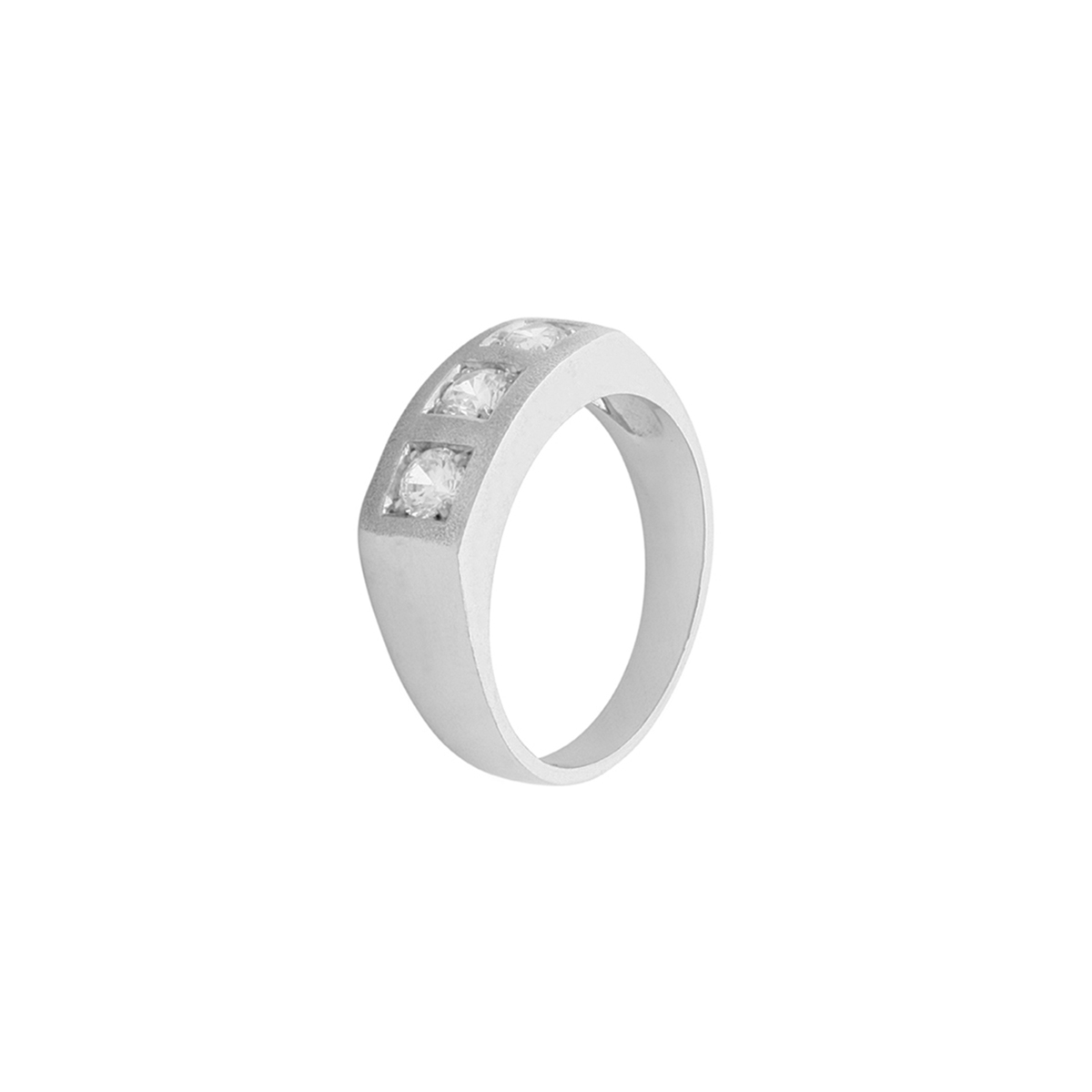 Squared Trilogy Ring in Platinum