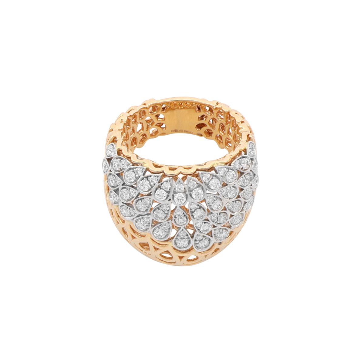 Diamond Drop Band Ring