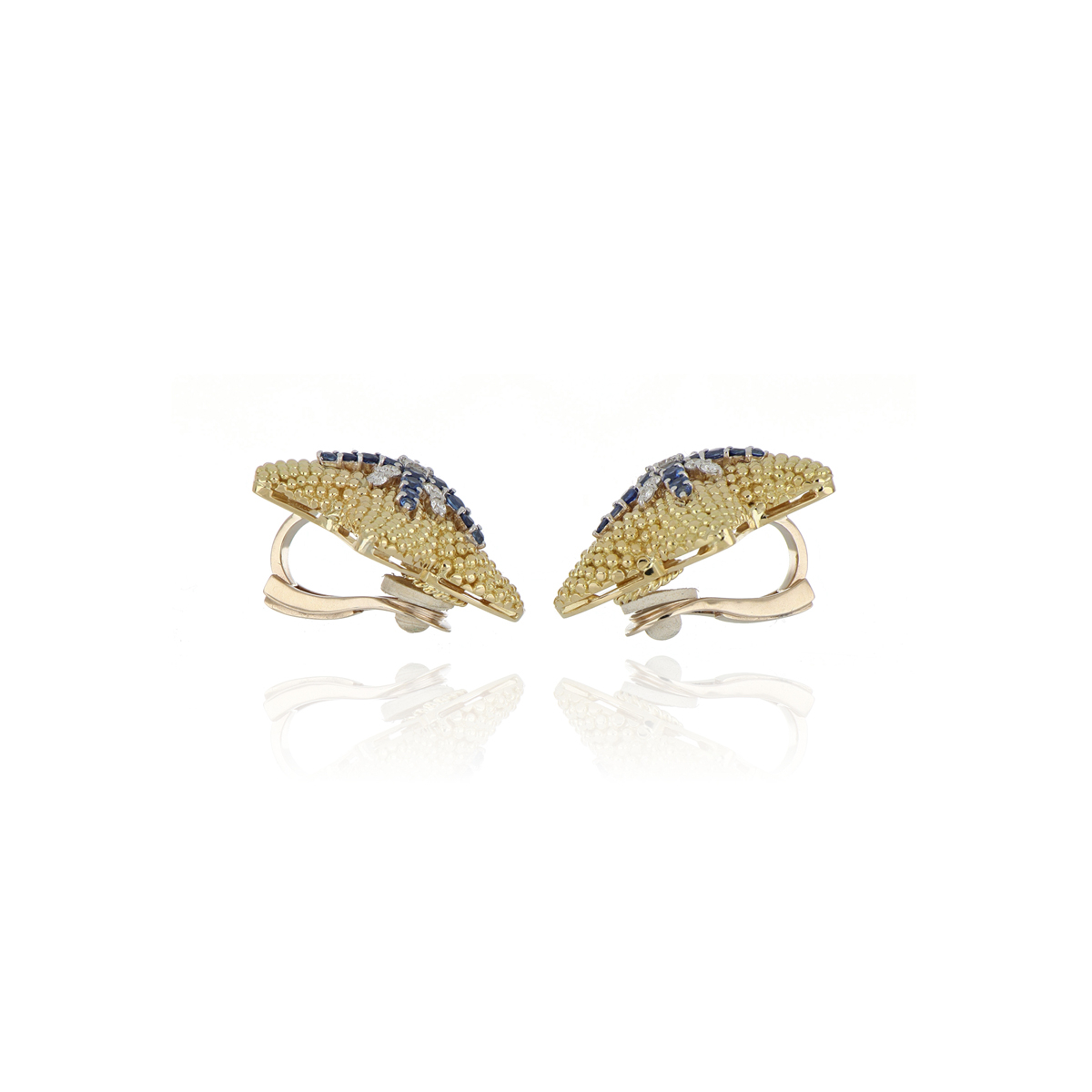 Precious Sapphires Starfish Earrings