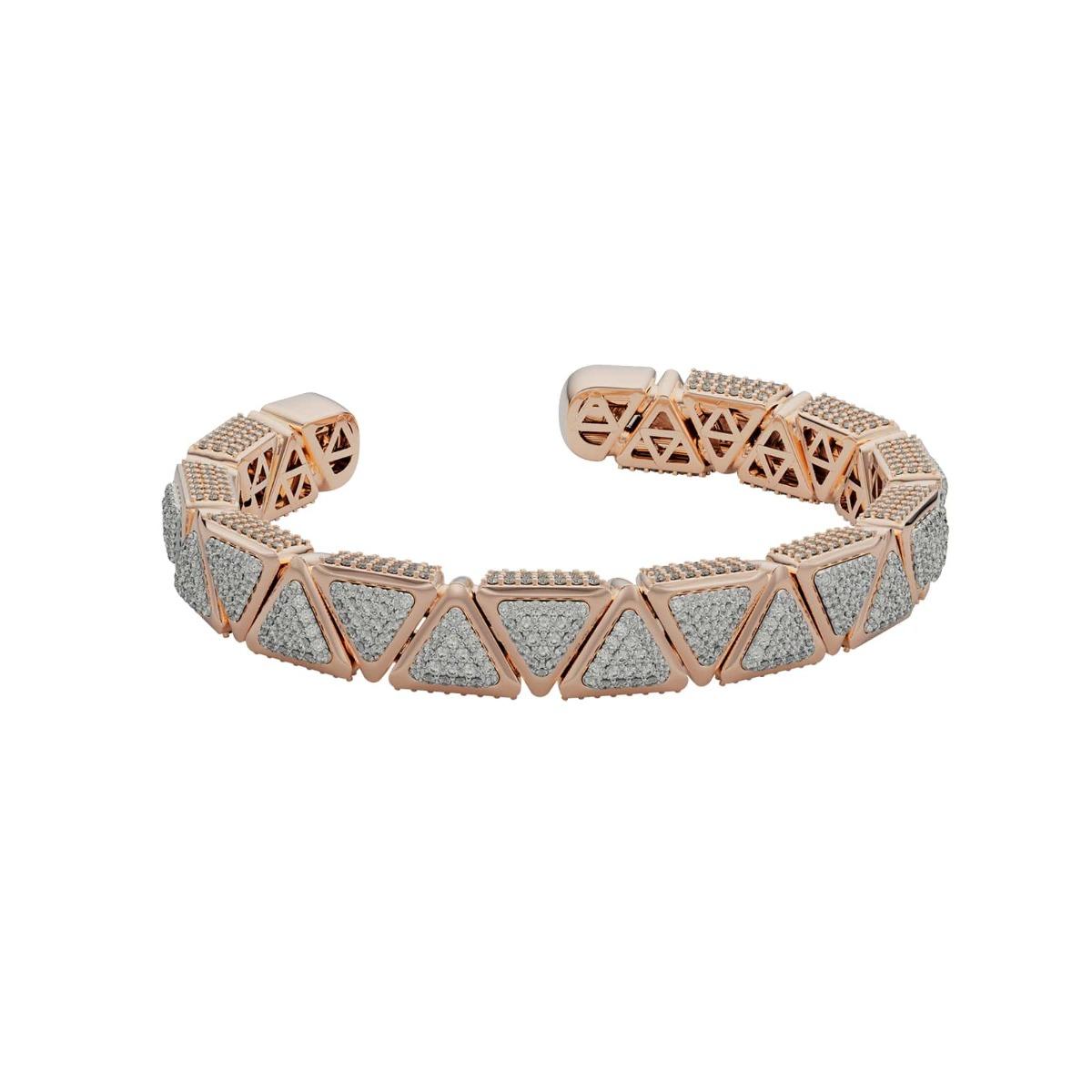 Bracelet BB Anniversary Mirror Rose Gold Full Diamonds Pavé