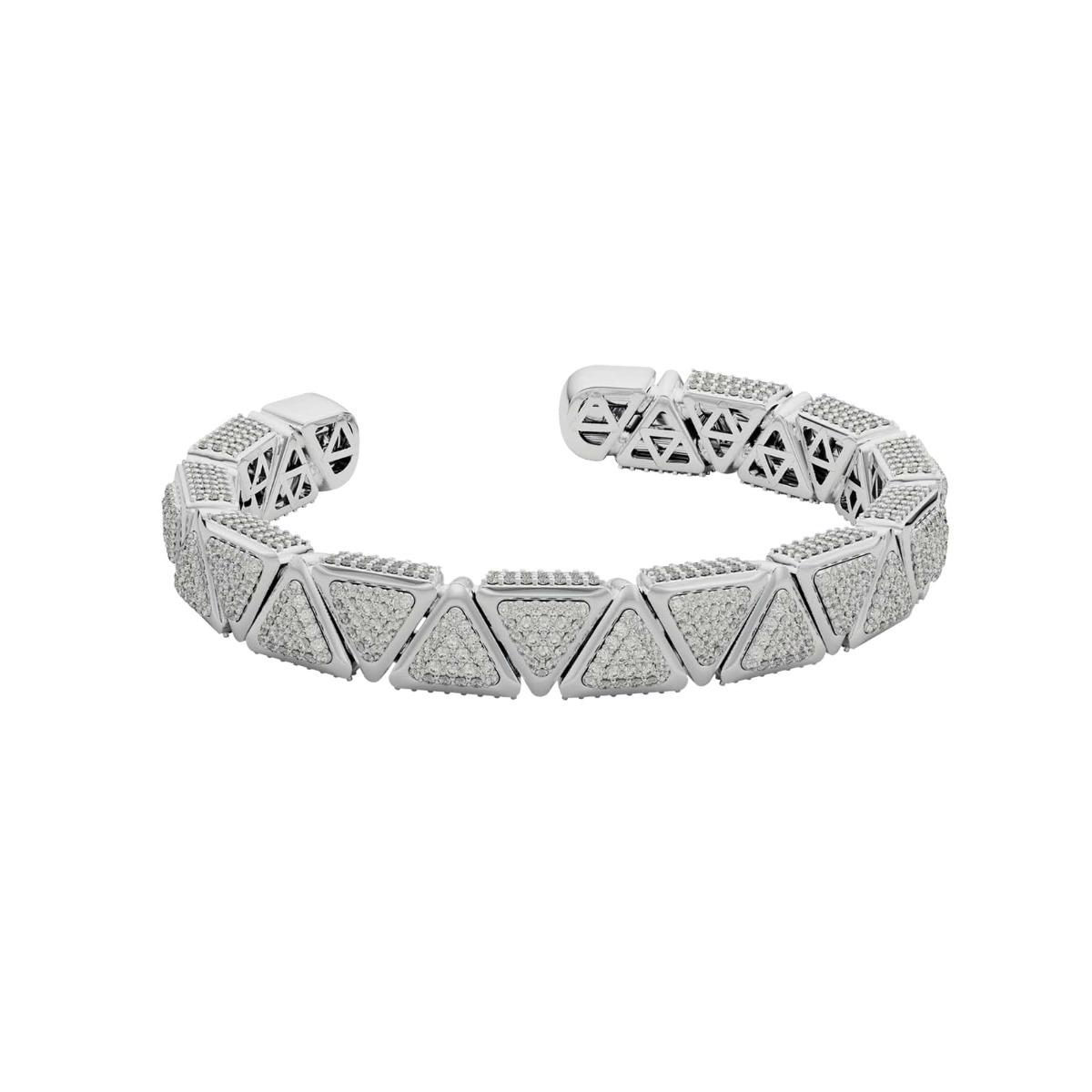 Bracelet BB Anniversary Mirror White Gold Full Diamonds Pavé