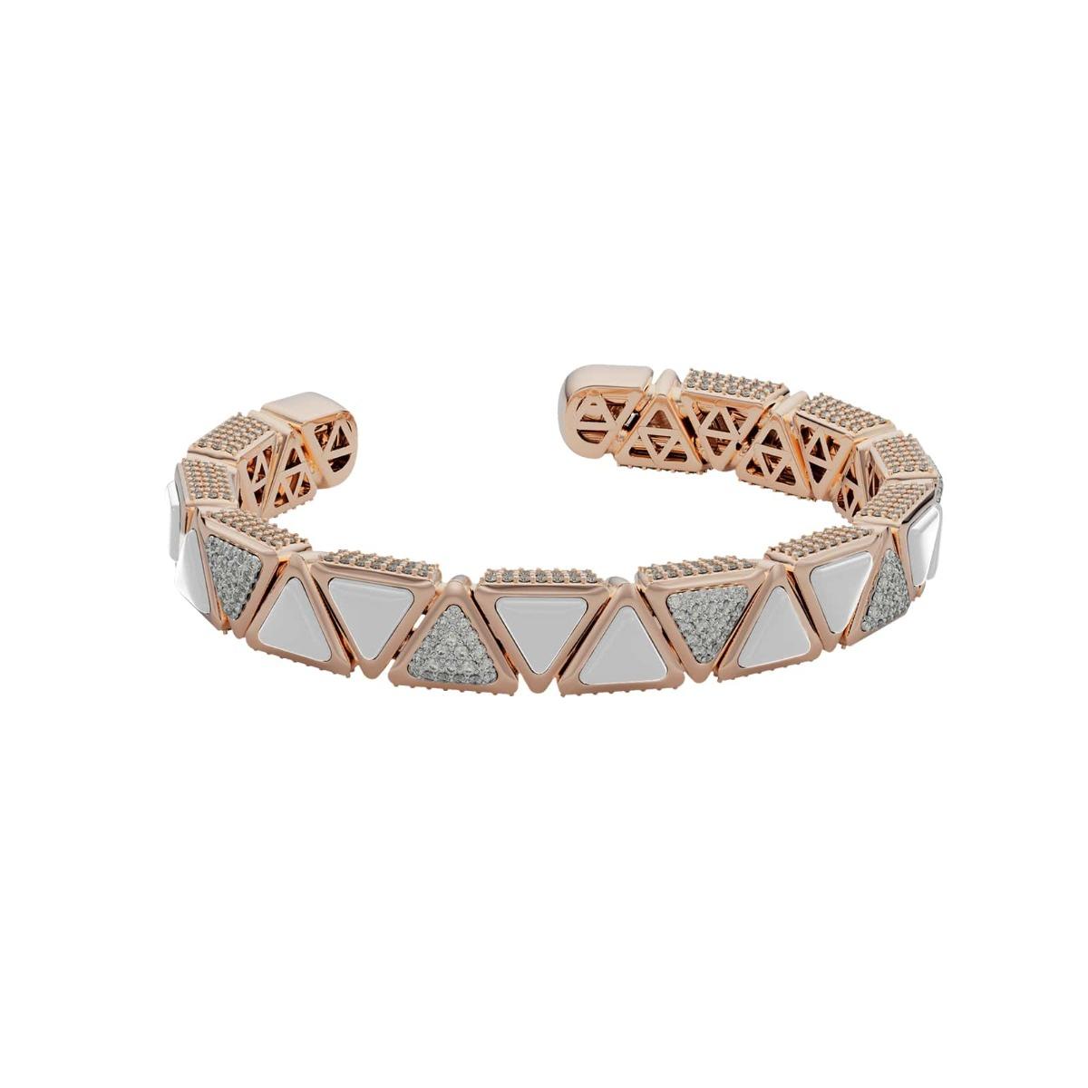 Bracelet BB Mirror Exquisite Rose Gold Kogolong and Diamonds