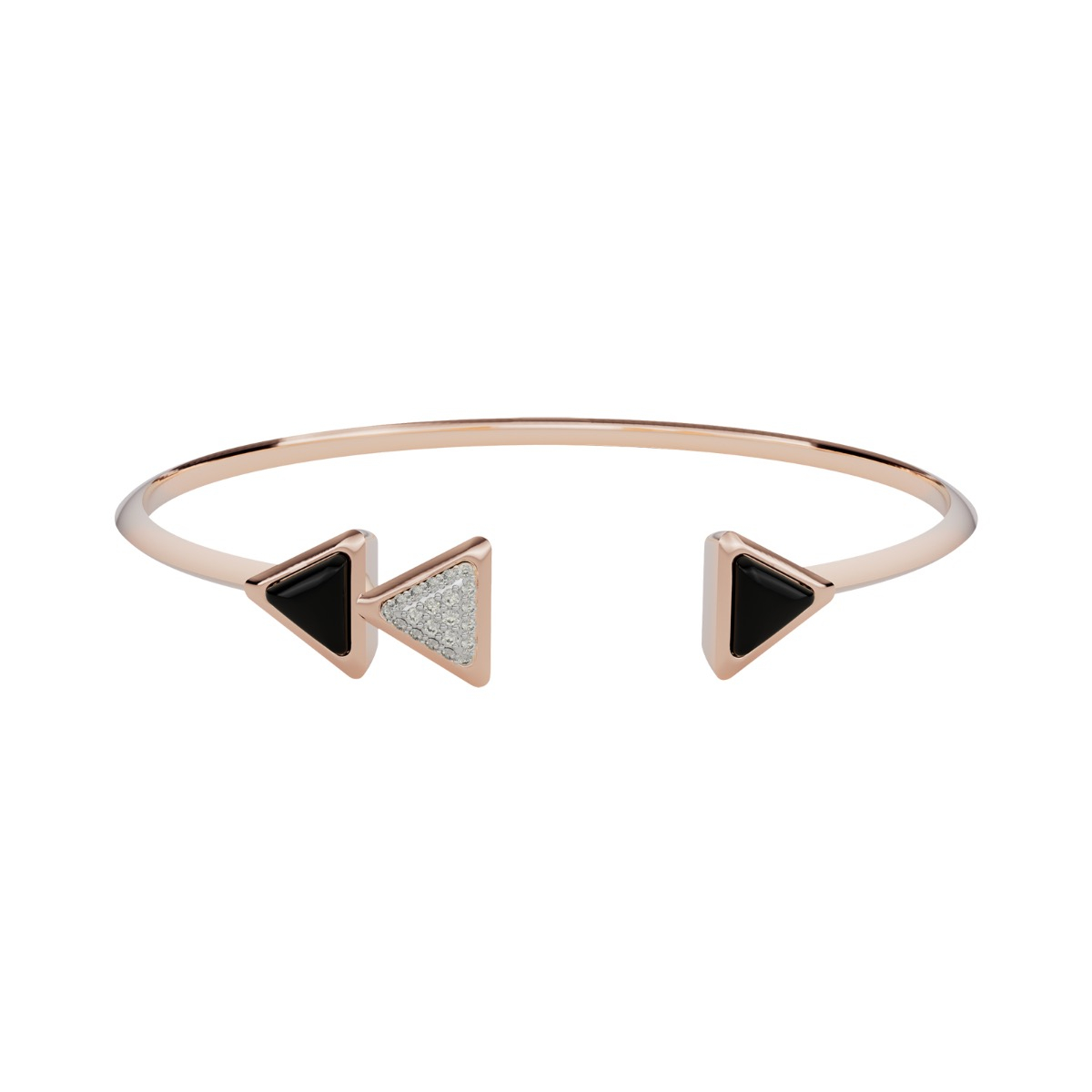 Bracelet Dove Vai Rewind Exquisite Rose Gold Onix and Diamonds