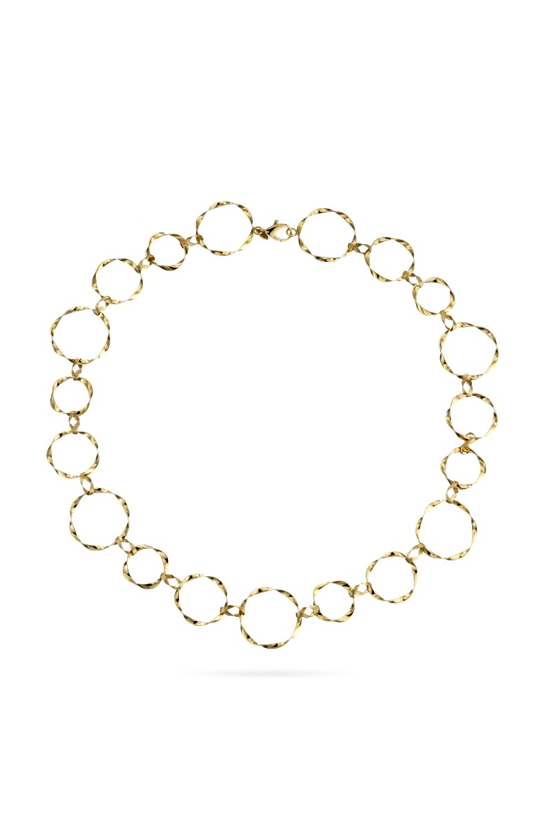Twisted Circle Necklace