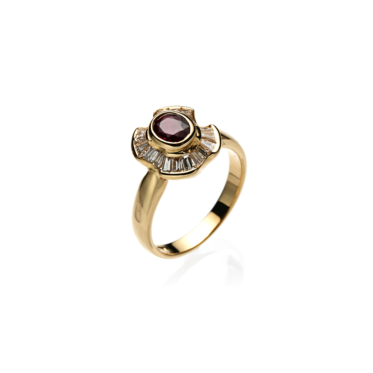 Halo Ruby Ring