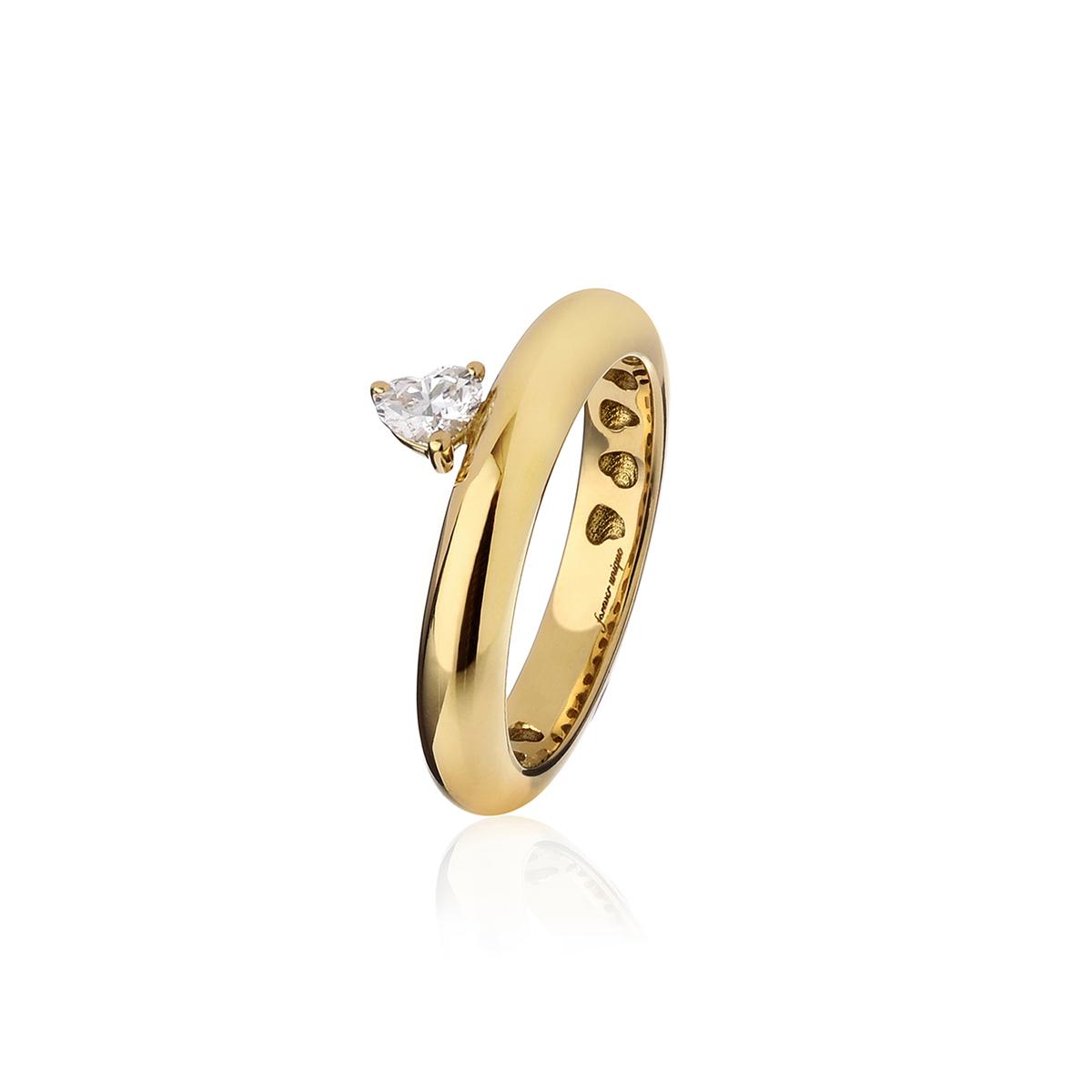 Chubby - Fancy Diamond Heart Ring (Thin Version)