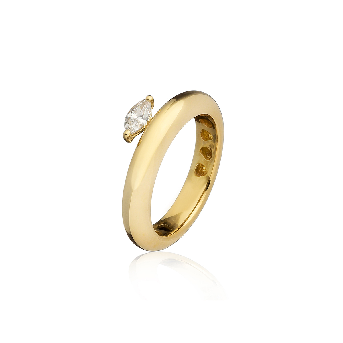 Chubby - Fancy Diamond Marquise Ring (Thin Version)