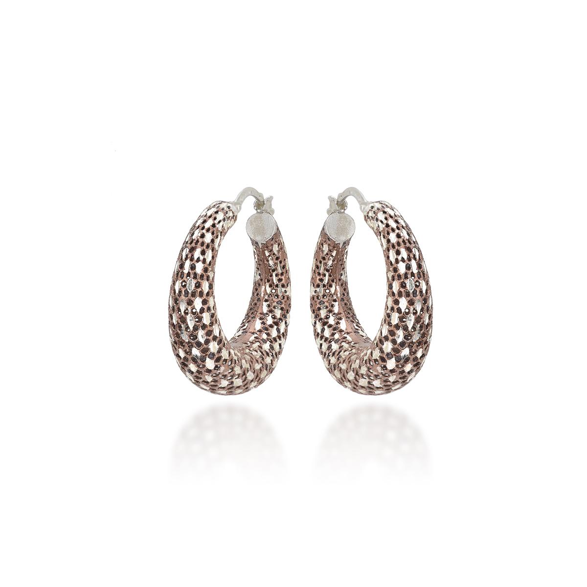 Chocolare Rosè Silver Earrings