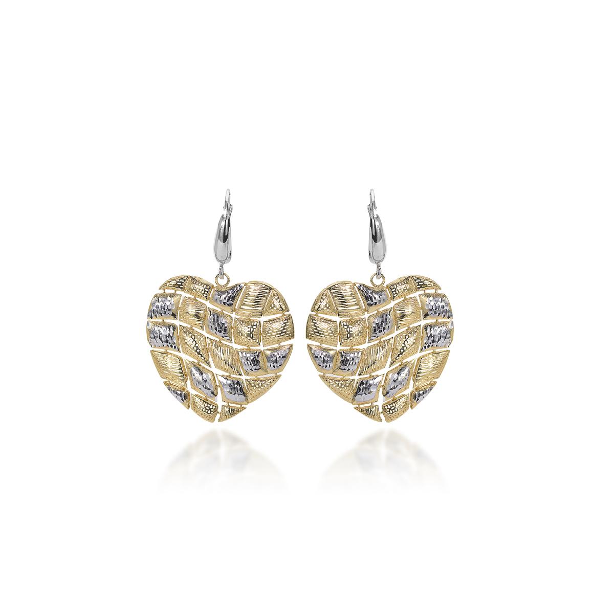 Hearts Silver Diamond Effect Earrings