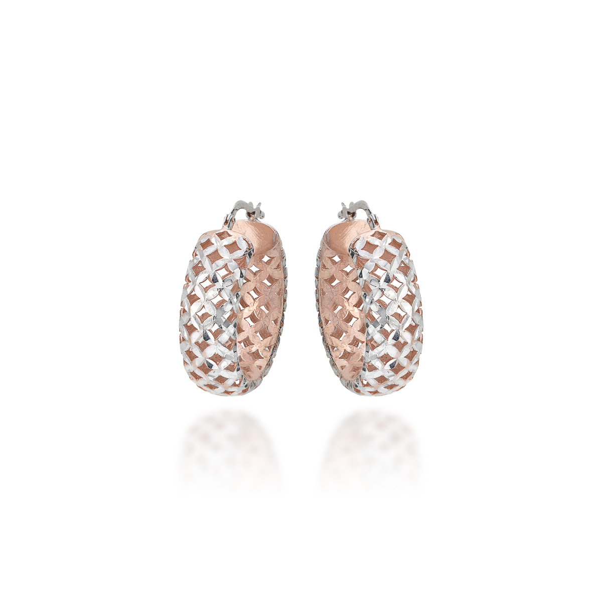 rhodium-plated rose gold Silver Earrings