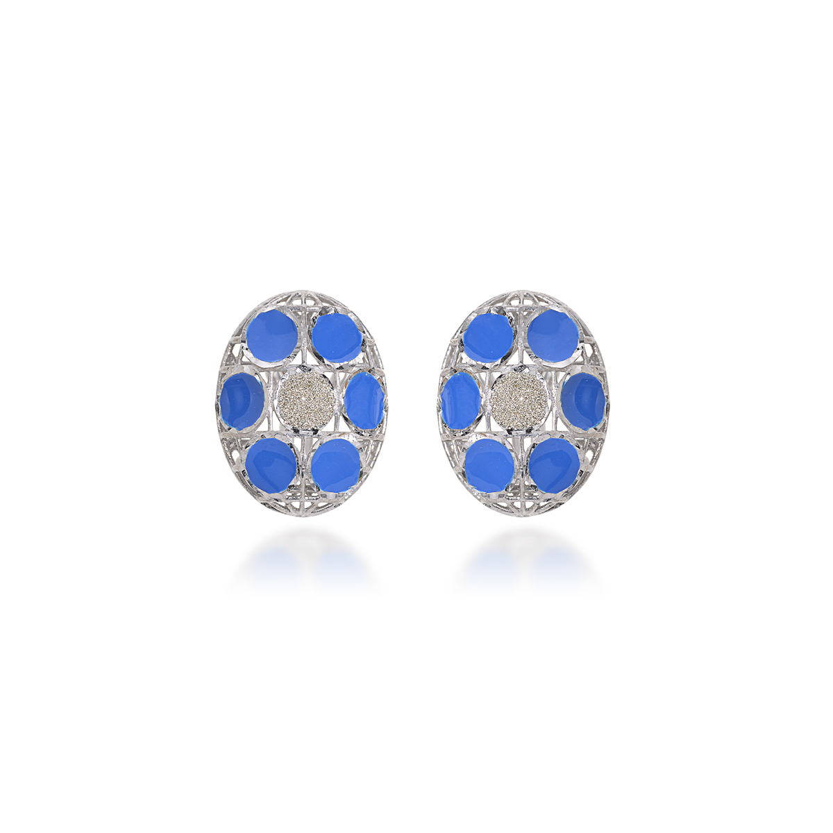 Rhodium Silver Earrings