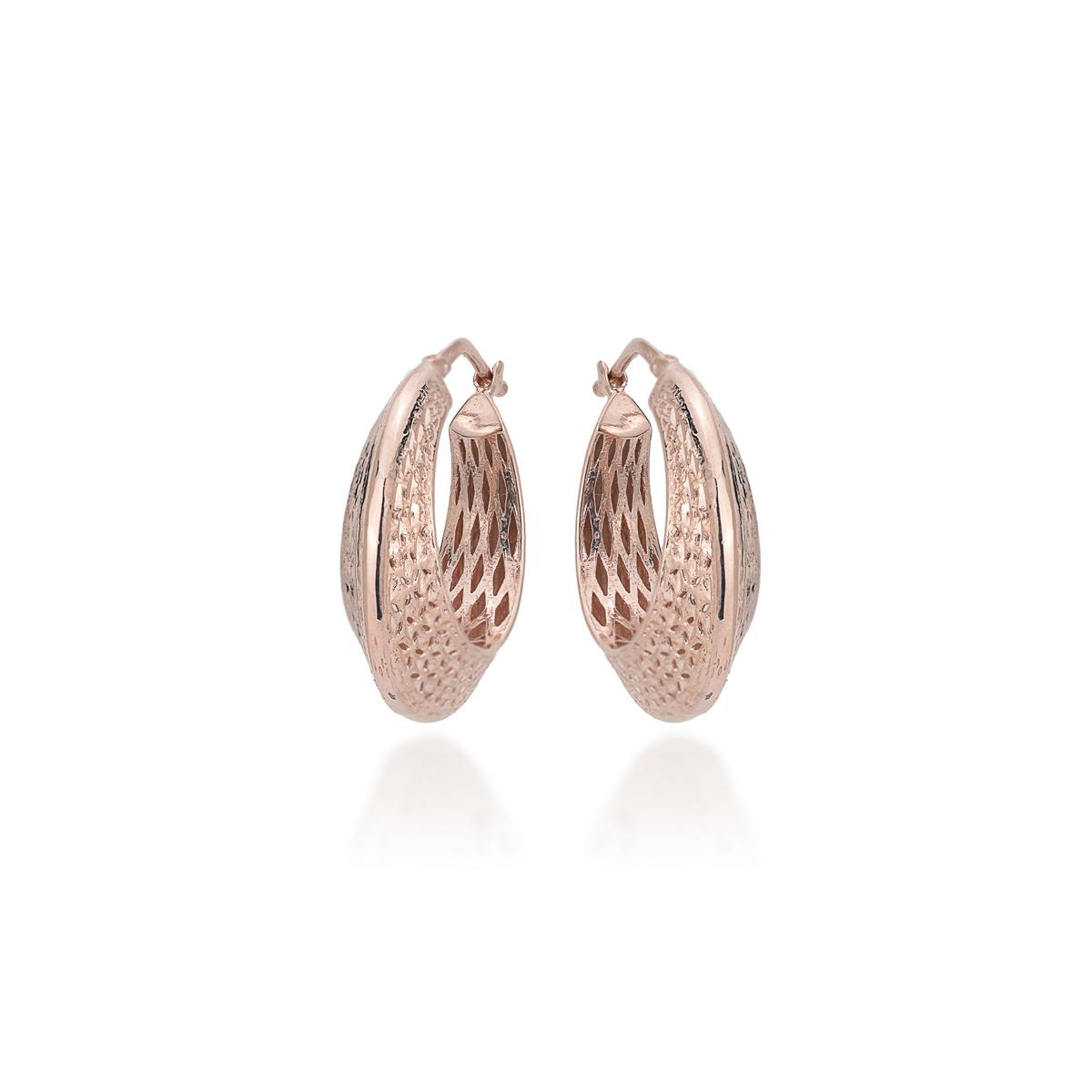 Rose Silver Diamond Effect Earrings
