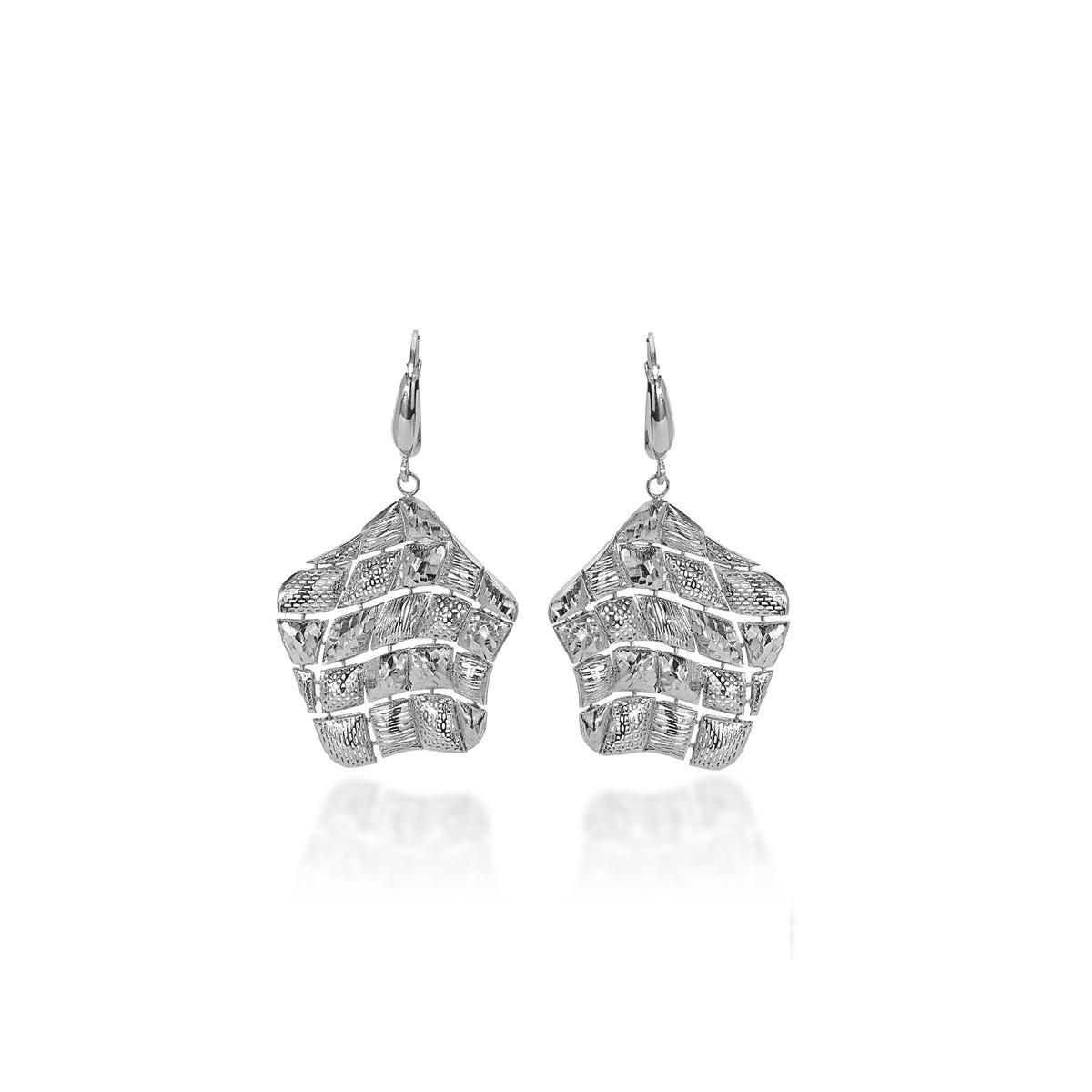 Silver Diamond Effect Earrings