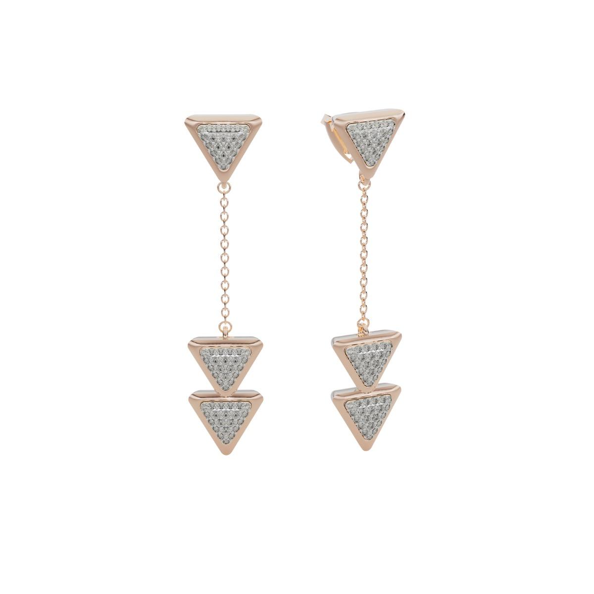 Earrings Anniversary Dove Vai Forward Rose Gold Full Diamonds Pavé